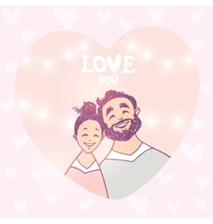 happy couple in heart vector image