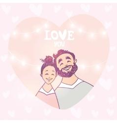 Happy couple in heart vector
