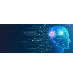 Human artificial intelligence concept of machine vector
