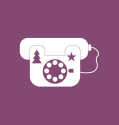 Icon landline phone vector
