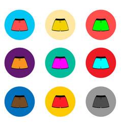 icon logo for set symbols beach vector image