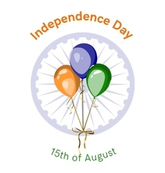 Independence day of India design vector image