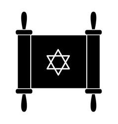 Jewish torah icon vector