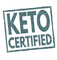 keto certified sign or stamp vector image