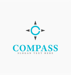 letter c compass logo design template abstract vector image