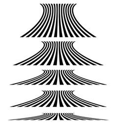 Lines in 3d perspective vanishing lines stripes vector