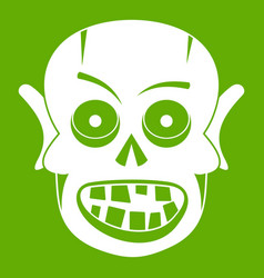 living dead icon green vector image