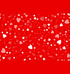 love seamless pattern background with hearts vector image
