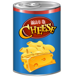 Mac and cheese in can vector