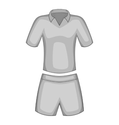 Men tennis uniforms icon gray monochrome style vector image