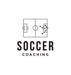 minimalist football soccer sport team club logo vector image