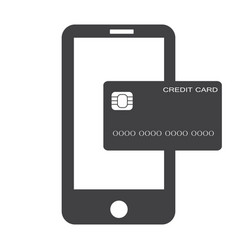 Mobile banking payment icon on white background vector