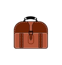 old vintage luggage bag suitcase travel vector image
