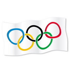 Olympic waving flag vector