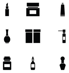 package icon set vector image