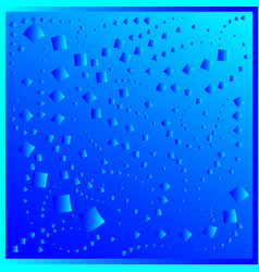 pattern from blue diamonds on a blue background vector image