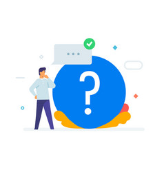 person asks questions icon vector image
