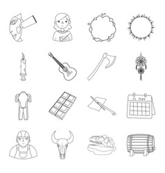 profession history sport and other web icon in vector image