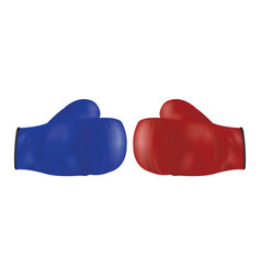 red and blue boxing glove vector image