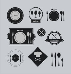 Restaurants vintage logo vector