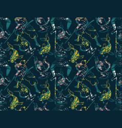 Samurai pattern seamless design vector