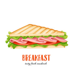Sandwich wich ham vector