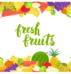 Seamless fruits horizontal border vector