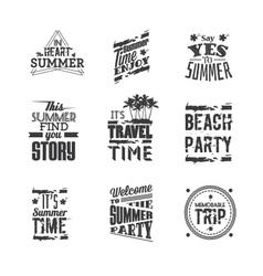 Set of Summer Holidays lettering vector