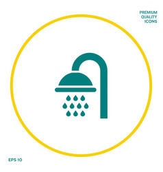 Shower icon symbol graphic elements for your vector