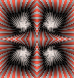Silver red swirl background vector
