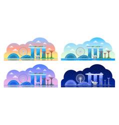 singapore beautiful horizontal panoramic view vector image