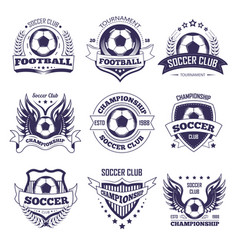 Soccer club or football league ball star vector