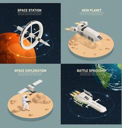 space ship 2x2 design concept vector image