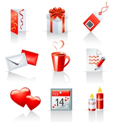 st valentines day icons vector image