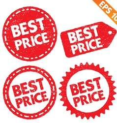 Stamp sticker best price tag collection vector