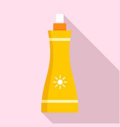 sunscreen spray icon flat style vector image