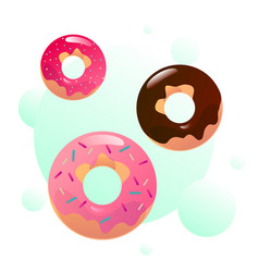 sweet donuts vector image