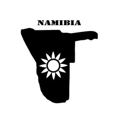 Symbol of namibia and map vector