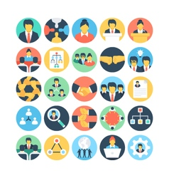 Team Work and Organization Icons 1 vector