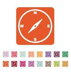 The compass icon vector