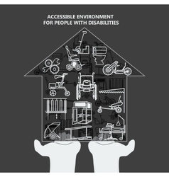 The concept of accessible environment for people vector
