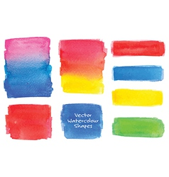 Various watercolor shapes vector