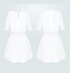 white women dress vector image