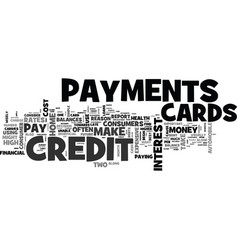 wise use of credit cards text word cloud concept vector image