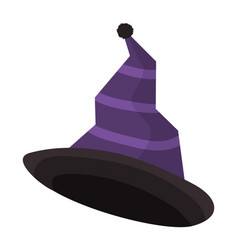 Witch hat accessory to halloween costume vector