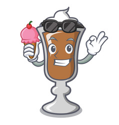 With ice cream irish coffee character cartoon vector
