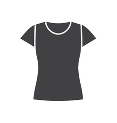 womens t-shirt glyph icon vector image