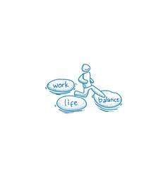 Work life balance template vector