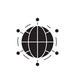 world network black concept icon world vector image