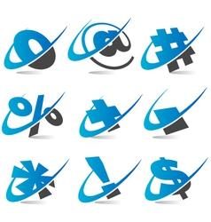 Wwoosh symbol logo icons vector